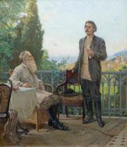 Толстой и Горький в Гаспри.