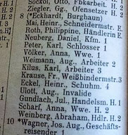 Adressbuch Kassel Obere Schäfergasse 8