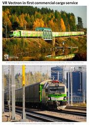 VR-Yhtymä Oy Vectron Railcolor Privatbahn Magazin Bahnfoto P.Trippi