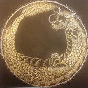 龍の点描画