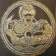 龍の画チベット仏画風