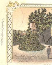 """Ausschnitt aus der Ansichtskarte """"Neues Schützenhaus"""" / Restauration Knipp"""