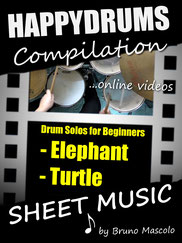 Happydrums Compilation, Drum Solos For Beginners, Elephant, Turtle