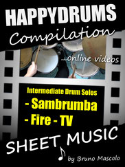 Happydrums Compilation, Intermediate Drum Solos, Sambrumba, Fire, TV
