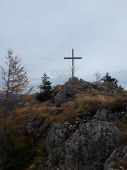 Wurzerkampl Gipfelkreuz über der Wurzeralm
