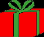 Rotes Geschenk mit grünem Band - Christian Ebert Speyer