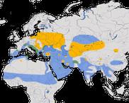 Karte zur Verbreitung der Moorente