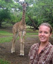 Linda en baby giraffe