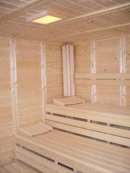 Genießen Sie unsere Sauna.