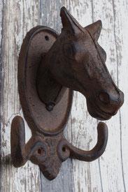 gusseisen garderobenhaken pferdekopf