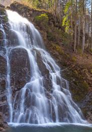 Glückwunschkarte Wasserfall, Geburtstagskarte Wasserfall, Fotokarte Wasserfall, Giessbachfälle