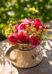 Geburtstagskarte, Glückwunschkarte, Rosen, Blumenstrauss, Blumenbouquet