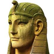 Pharao, Büste, Kalkstein