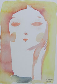 Girl   14×9cm   Watercolor on paper   2014