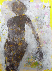 Voice of  tomorrow    22×16cm Aqyla on paperboard   Private collection