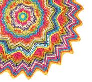 Tutorial: manta o cobija ondulada redonda tejida a crochet