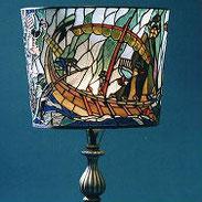 26-59  Stained Glass Lampshade  | Toshio MIYAJIMA