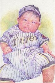 色鉛筆似顔絵 赤ちゃん リアル 写実