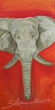 Elefant, Acrylbild von silvanillion