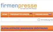 Alpha Hypnose Mannheim Firmenpresse.de