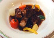 猪バラ肉の黒酢煮込み