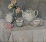 Le Sidaner, la tasse de thé,  Ecole d'Etaples, collection permanente, musée du Touquet-Paris-Plage