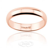 anello nuziale classico oro rosa mm 5