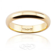 anello nuziale diana oro giallo grammi 6