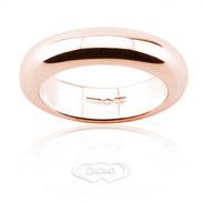 anello nuziale classico in oro rosa gr 15