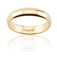 anello nuziale classico in oro giallo mm 5