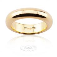 anello nuziale classico oro giallo gr 15