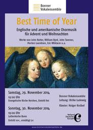 Konzertplakat Best Time of Year