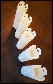 3D geprint glijlager, met bajonetsluiting