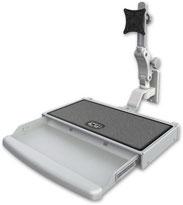 ウォールマウント 壁面固定 ディスプレイキーボード用アーム VESA:ASUL550-W2-KUW
