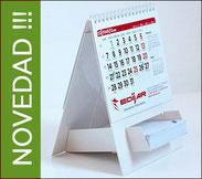 Calendario publicitario sobremesa porta notas 13 hojas