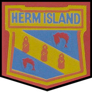The Herm Island Crest.