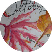 Art Journal - Mein Gartenjahr - Oktober - DIY
