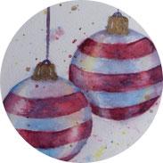 Weihnachten - Weihnachtskugeln in Aquarell malen - DIY