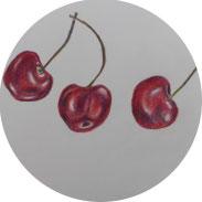 Inspiration - Kirschen mit Farbstiften skizzieren - DIY