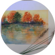 Inspiration - Herbstlandschaft in Aquarell malen - DIY