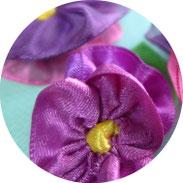 Muttertag - Stiefmütterchen aus Geschenkbändern nähen - DIY