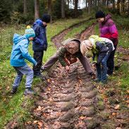 Fährtenlesen mit Kindern im Habichtswald