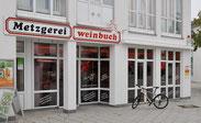 Metzgerei Weinbuch in Gögglingen - Original Öpfinger Schwarzwurst, Schwarzwurstritter, Wurstkonserven; Wurstglas; Wurst im Glas; Wurstwaren haltbar; Onlineshop; Schwarzwurst; Blutwurst