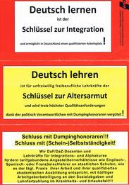 Flugblattverteilung am 1. Mai 2013 und 2014