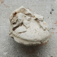 Voetjes van een beeldje, Gouda ca 1700