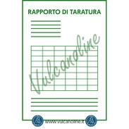 Rapporto di taratura per rugosimetro