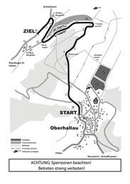 Streckenplan Oberhallau