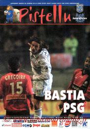 Programme  Bastia-PSG  2001-02