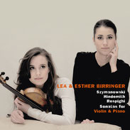Debut album of German violinist Lea Birringer and her sister Esther Birringer (piano)