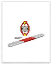 GEO ECO MP-11 Mini Target con tarjeta reflectora y 4 Mini Balizas de Cobre de 30 cm c/u.